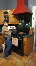 Teens can be completely independent in the kitchen. Even if you didn't start when they were young, they learn quickly.