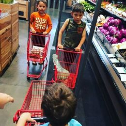 Part of the fun of kids in the kitchen is letting them meal plan and grocery shop.