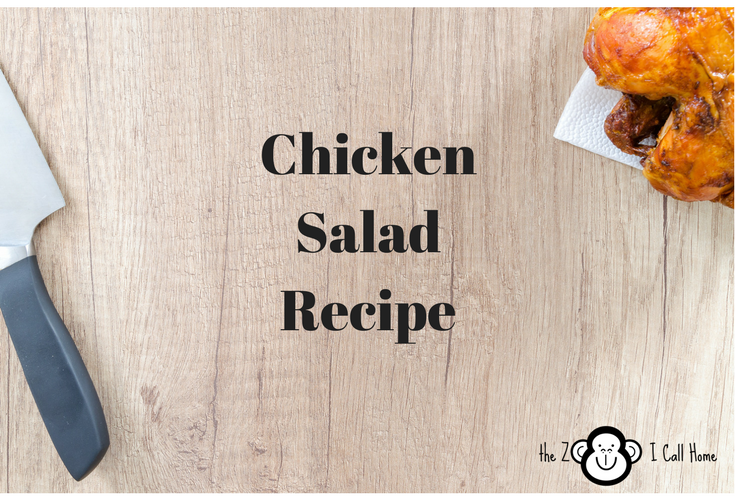 My chicken salad recipe made from whole chickens.