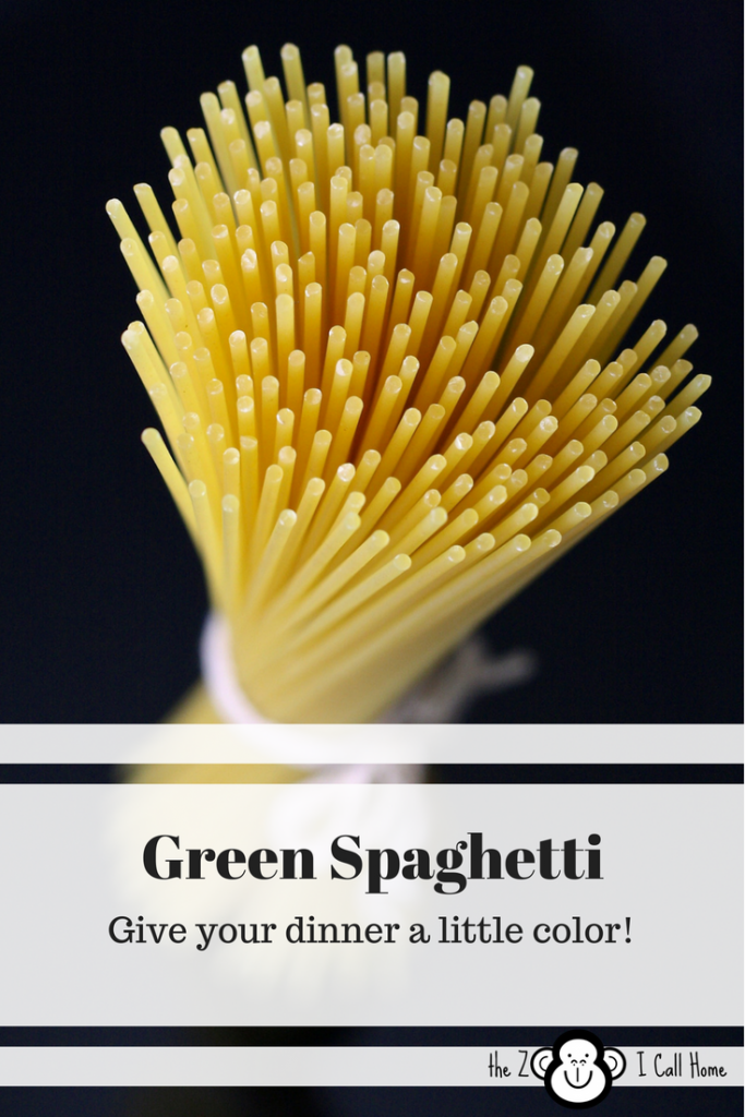 Green Spaghetti, give your dinner a little color. And the kids love it!