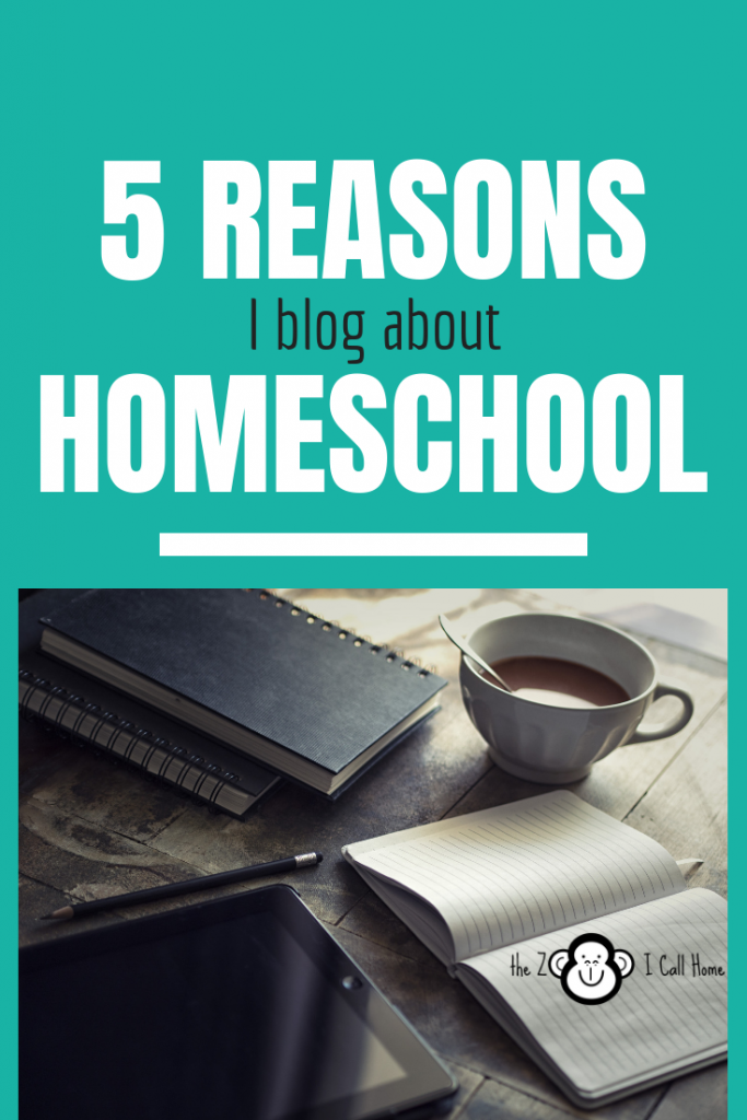 5 reasons I blog about homeschool