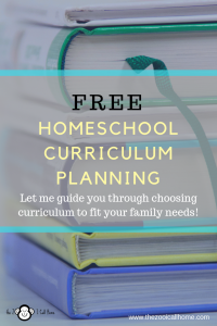 Free homeschool curriculum planning to fit your family.