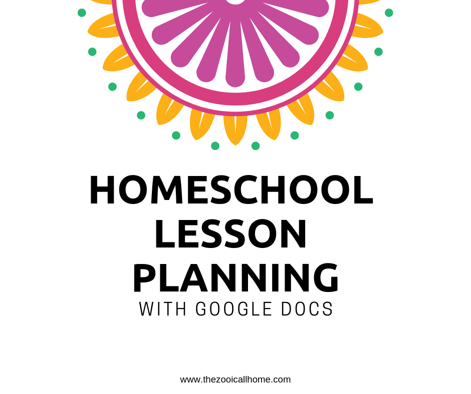 Homeschool  organization tip #6 lesson planning with google docs