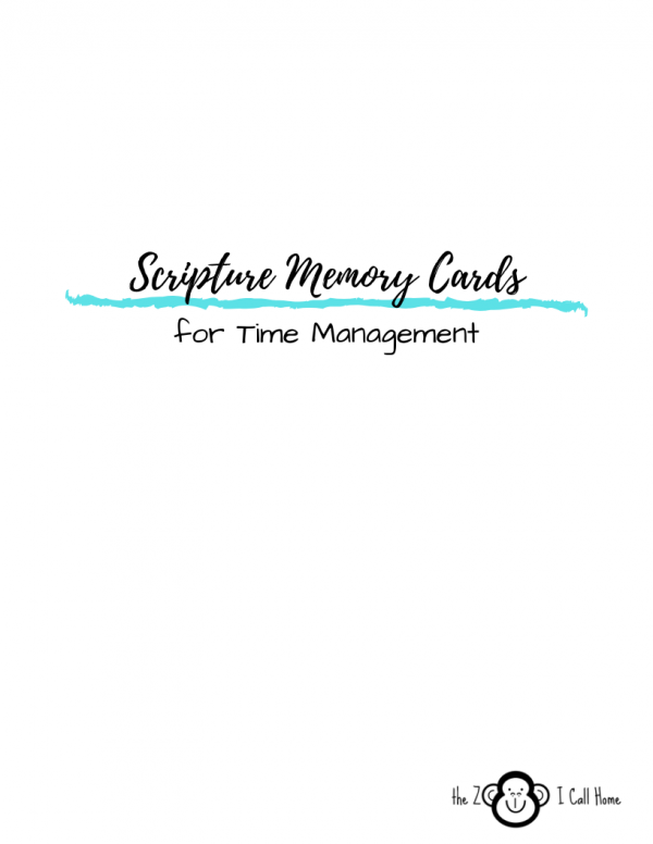 Scripture Memory Cards for Time Management