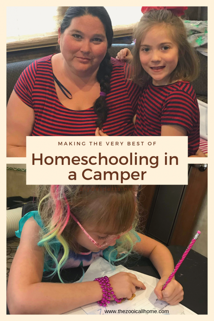 Making the best of homeschooling in a camper. My first homeschool interview is of a family homeschooling out of their camper.