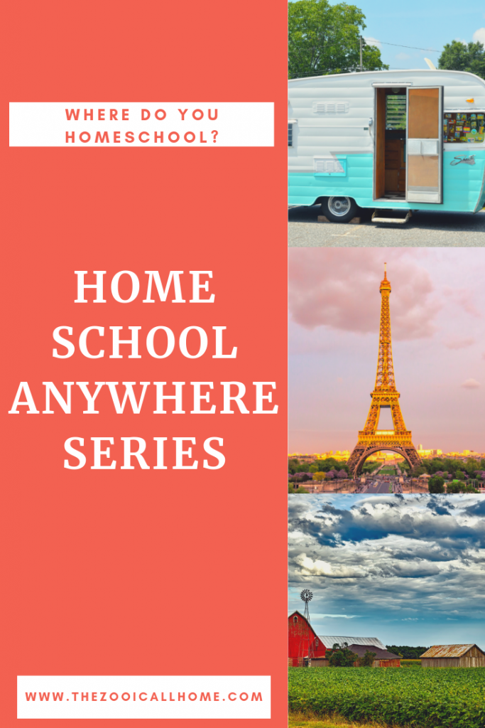 Homeschool anywhere series at the Zoo I Call Home. Check back often as we add homeschool families homeschooling from .. well .. anywhere.