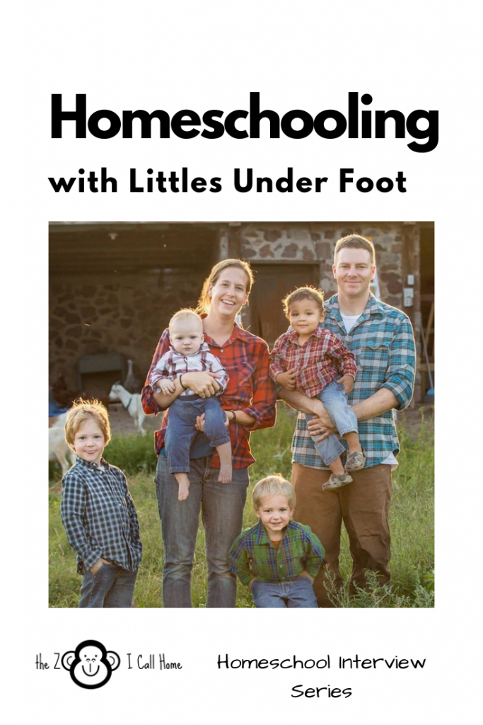Homeschooling with littles under foot. Part of the Homeschool Interview Series.