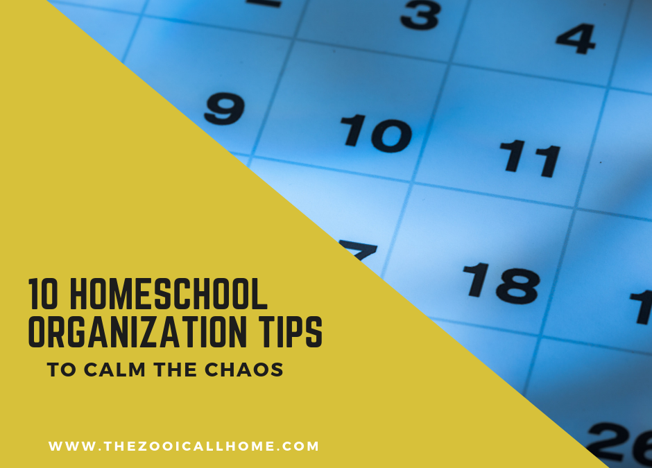 10 Homeschool Organization Tips to Calm the Chaos