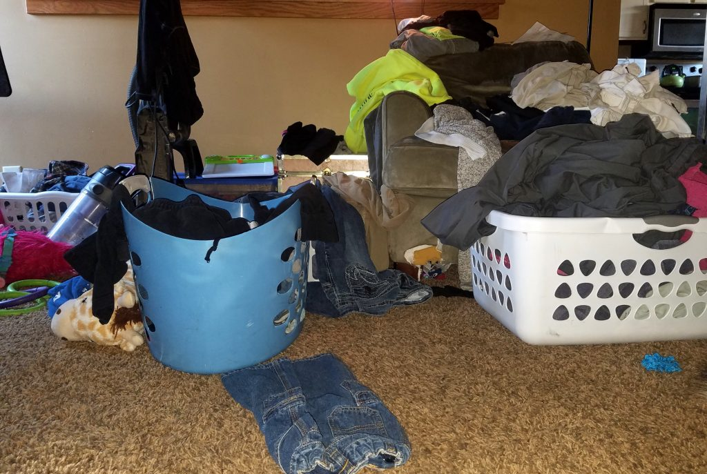 Laundry piles up. It will be there tomorrow. Don't get burned out because you are trying to do it all.